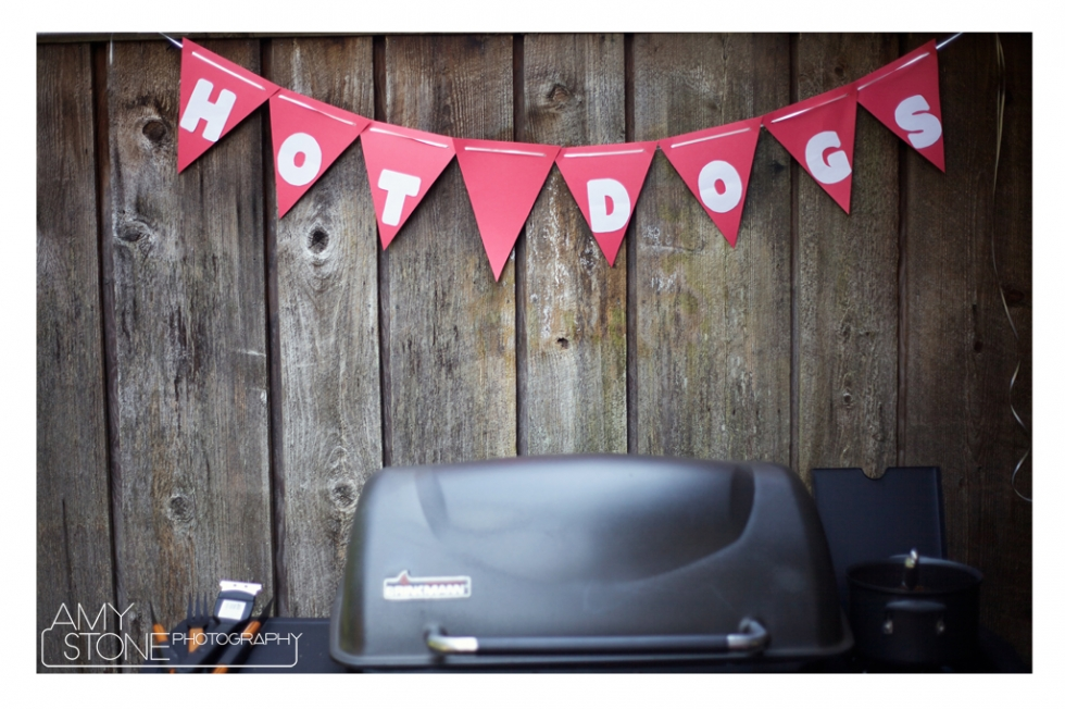 BBQ Ideas - Amy Stone Photography - Hot Dog Sign