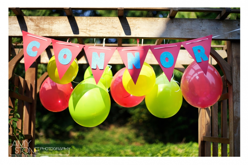 Birthday Sign - Amy Stone Photography - Balloons